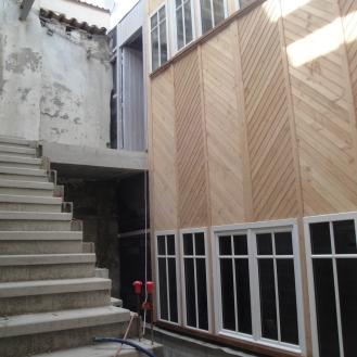 patio en cours de création