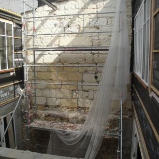le 2nd patio en cours d'ouverture