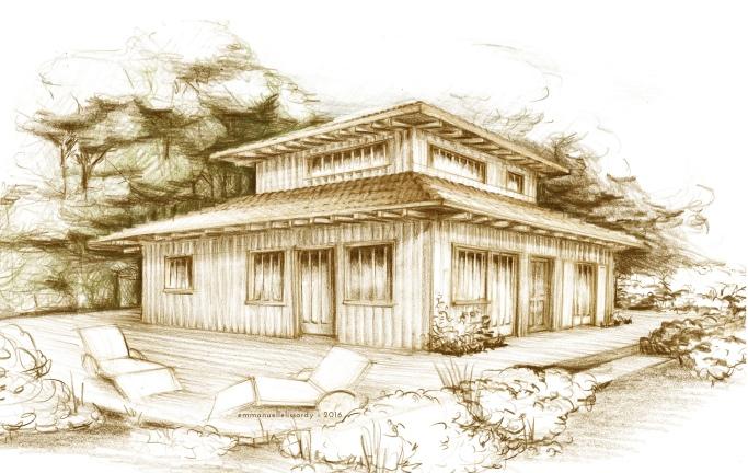 illustration pour projet immobilier Cap-Ferret