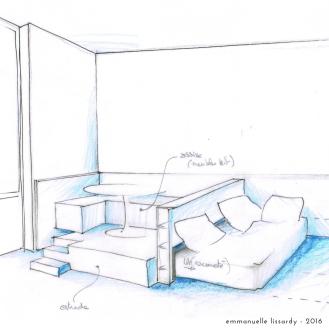 principe d'estrade-lit escamotable